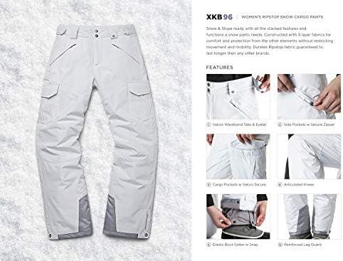TSLA Women's Winter Snow Pants, Waterproof Insulated Ski Pants, Ripstop Snowboard Bottoms