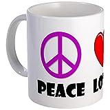 CafePress - Peace Love Bingo Mug - Unique Coffee Mug, Coffee Cup