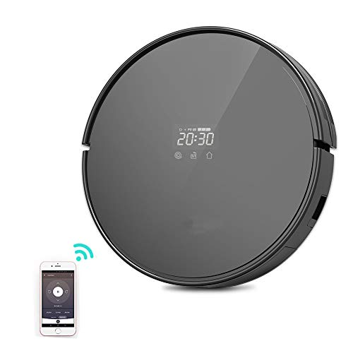 Drop Sensor - Robot Vacuum Cleaner -WiFi Connectivity Compatible with Alexa ,360° Anti-Collision & Drop Sensor Protection Auto Charging,Remote/APP Control Good for Pet Hair, Carpets, Hard Floors