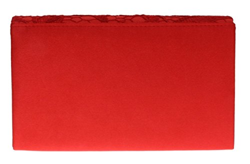 Girly Champagne Satin Bag Red Clutch HandBags Lace zzwxC4
