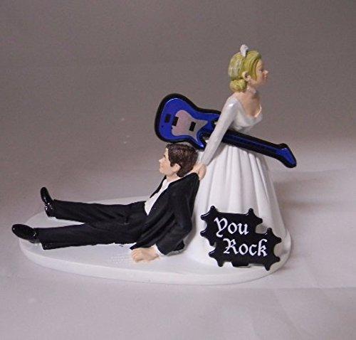 Wedding Reception Funny Cake Topper Custom You Rock Guitar Music Band