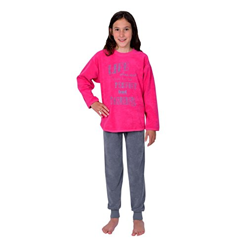 Wörner Mädchen Schlafanzug lang Sleepshirt Bademantel