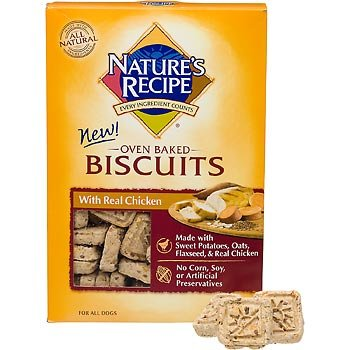 NATURE'S RECIPE 799001 Mini Chicken 6-Pack Biscuit for Dog, 19-Ounce