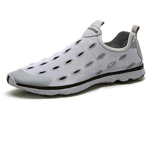 Oriskey Aquaschuhe / Bootsportschuhe / Strandschuhe / Badeschuhe / Surfschuhe / Wassersportschuhe / Wasserschuhe / Schwimmschuhe für Herren Grau