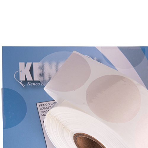 Clear Wafer Package Seals 1.5 Circle Tab Sticker Labels by Kenco (1 Pack (1,000)