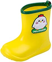 Caopixxzful Kids Rain Boots for Girls Boys Cartoon Print Rubber Rainboots Non-Slip Mud Boots