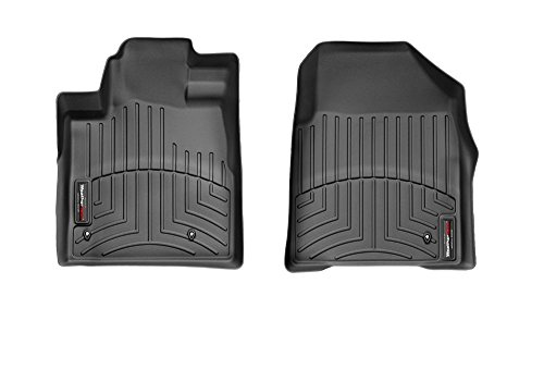 WeatherTech Custom Fit Front FloorLiner for Honda Pilot (Black)