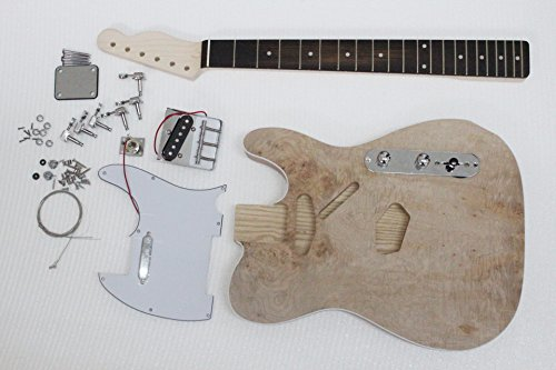 PROJECT ELECTRIC GUITAR BUILDER KIT DIY WITH ALL ACCESSORIES WITH ASH BODY