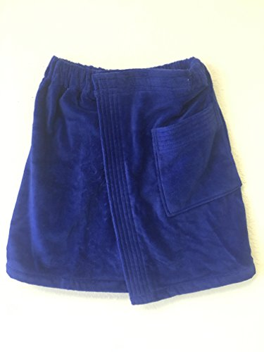 Skirt Wrap Terry - sheetsnthings Luxury Collection - Exquisite Elegance - Gentleman's Royal Blue Terry Velour Wrap, 100% Turkish Cotton, Size: Universal