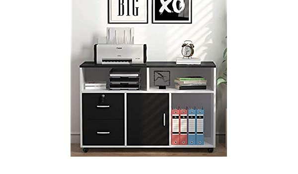 Awesome File Cabinet Black Tribesigns 2 Drawer Storage Printer Stand Download Free Architecture Designs Grimeyleaguecom