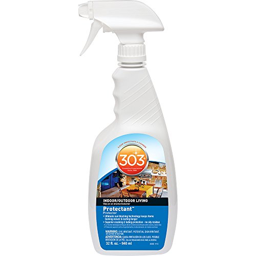 303 (30303) Indoor Outdoor Patio Furniture UV Protectant Spray for Vinyl, Plastic, Rubber, Fiberglass, Leather & More – Dust and Dirt Repellant - Non-Toxic, Matte Finish, 32 Fl.oz.