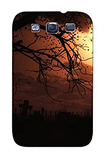 New Fashion Premium Tpu Case Cover For Galaxy S3 - Cemetery Silhouette Case For New Year's Day's Gift
