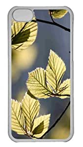 Customized iphone 5C PC Transparent Case - Tree Leaves In Sunlight Personalized Cover