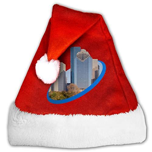 (FQWEDY Houston Texas Unisex-Adult's Santa Hat, Velvet Christmas Festival)