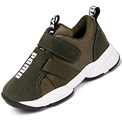 Daclay Kids Shoes Boys Sneakers Fitness & Cross-Training Girl Running Athletic Bowling Sport Sandals (1 Little Kid,Army Green)