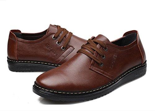 WZG zapatos de cuero de vaca individuales de los nuevos hombres, zapatos de hombre, vaca zapatos de los hombres suave Brown