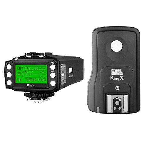 PIXEL King Pro Radio Flash Trigger Kit Transmitter+Receivers 1/8000s TTL LED Screen Display for Nikon Cameras and Flash Speedlite as YN622n by Pixel