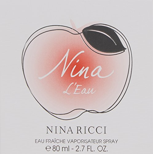 Nina L'Eau by Nina Ricci Eau Fraiche Spray for Women, 2.7 Ounce (Pack of 2)