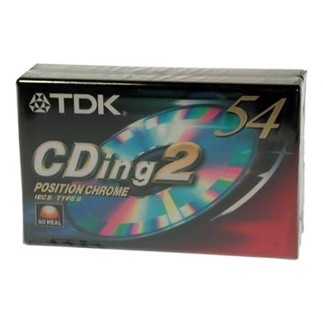 Cinta Cassette Virgen 90 minutos CDing2 CROMO TDK Pack de 2