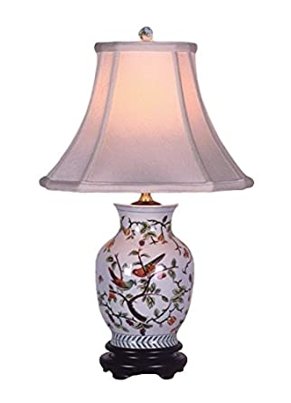 Song birds porcelain vase lamp table lamps amazon song birds porcelain vase lamp mozeypictures Choice Image