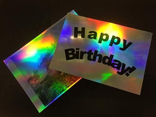 Selbstklebende Folie, für Tintenstrahldrucker, holografisch, glänzend, 100 Mikron, A4, 10 Blatt