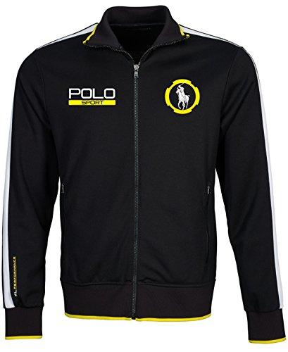 Polo Sport Men's Cotton Blend Full-Zip Jacket, Polo Black, X-Large