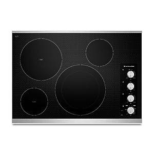 "KitchenAid KECC604BBL Architect II 30"" Black Electric Smoothtop Cooktop"