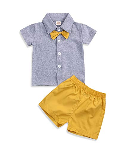 Baby Boy Girl Brother and Sister Matching Outfits Short Sleeve Tops + Shorts Set