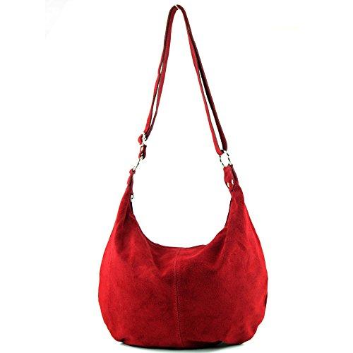 a bag Dunkelrot tracolla mano in pelle vera donna a borsa shopping Borsa T02 italiana ZAdqZ
