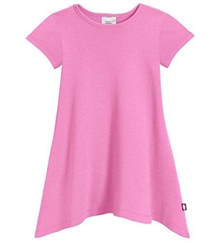 City Threads Girls Shark Bite Short Sleeve Tunic Top Blouse Shirt Stylish Modern