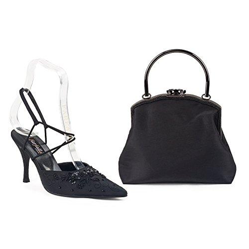 FARFALLA - Zapatos con correa de tobillo mujer Negro - negro