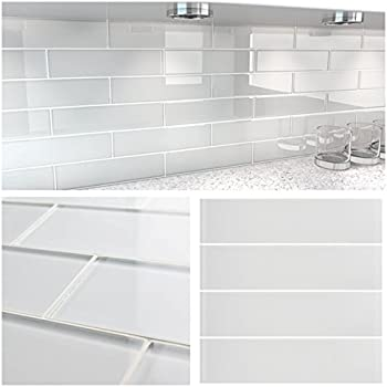 Premium Quality Super White Frosted 3x9 Glass Subway Tile ...