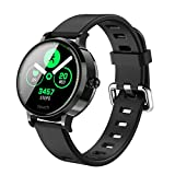 JAY-LONG Smart Sports Watch, Fitness Tracker, Heart Rate Blood Pressure Monitoring, Message Push, Call Reminder, IP67 Waterproof Fitness Bracelet, 180MAH,Black