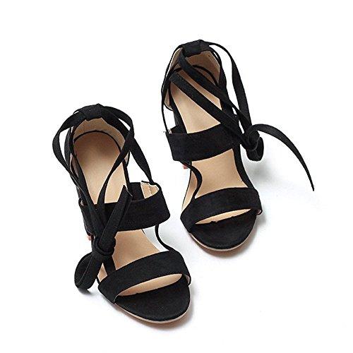 Femme pour pour pour Noir Lazutom Femme Sandales Noir Lazutom Sandales Sandales Lazutom 6qdO6H