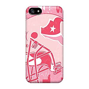 Shock Absorbent Hard Phone Covers For Iphone 5/5s (dQS324MykN) Customized Colorful Houston Texans Pattern hjbrhga1544