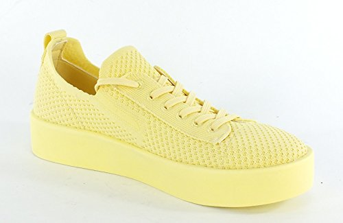 S.oliver Damen 23638 Sneaker Gelb (giallo Pallido)
