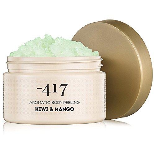 -417 Dead Sea Cosmetics Kiwi & Mango Aromatic Body Peeling - Nourishing and Exfoliating Scrub for Smooth Soft & Rejuvenate Skin - with Wheat Germ Oil - All Natural 15.8 oz ()