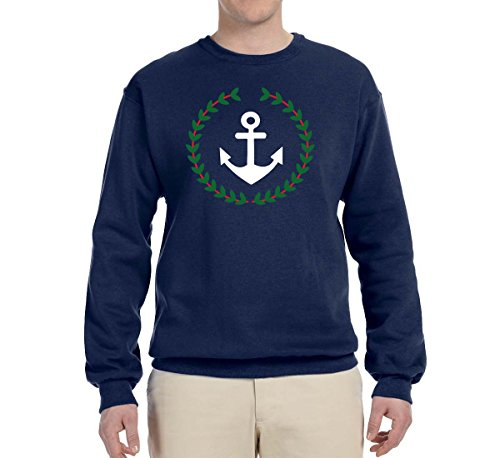 Wild Bobby Anchor Wreath | Pablo Escobar Narcos | Unisex Pop Culture Crewneck Graphic Sweatshirt, Navy, X-Large for $<!--$23.99-->