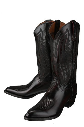 f646d6bbdde Lucchese 'T3012' Kangaroo Leather Cowboy Boots Mens 7 - Black Cherry ...
