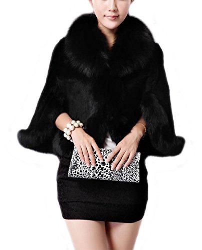 接続有効なで出来ているTortor 1Bacha レディース ラクーンファー 皮革 レザー 毛皮 マント ベスト コート アウター 可愛い 振袖用 着物用 成人式 卒業式 冬物