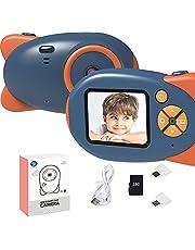 Digitale Camera Kinderen 2.0 Inch Groot Scherm 1080P HD 12MP Ingebouwde 32GB Sd-kaart USB Oplaadbare 3-12 jaar Kinderen Speelgoed,Blue,16G