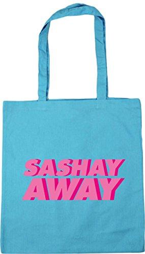 Shopping 10 away Blue Surf x38cm Tote Sashay Gym Beach HippoWarehouse litres 42cm Bag qtngwz5Rax