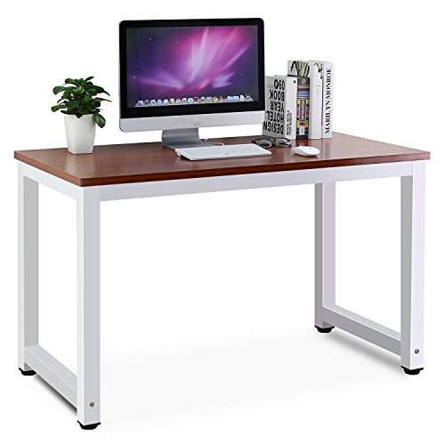 Tribesigns Modern Computer Desk, 47'' Office Desk Sturdy Computer Table Writing Desk for Home Office, Teak by Tribesigns