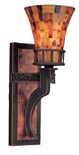 Kalco Lighting 2595AC 1 Light Wall Bracket with Penshell Shades ()