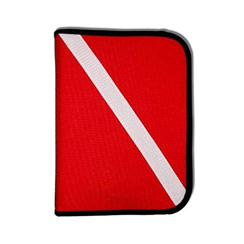 Innovative Scuba Concepts Scuba Diving Log Book - Red Cordura Diver Down Flag Three-Ring (3 Ring Log Book)