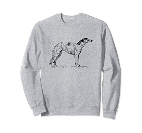 Unisex Borzoi Sweatshirt | Russian Wolfhound Medium Heather (Hound Adult Sweatshirt)