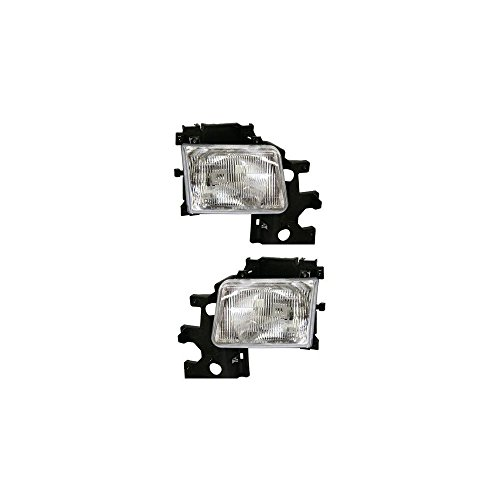 Headlight Set Of 2 For Dodge Full Size Van 94-97 Right and Left Side Assembly Halogen