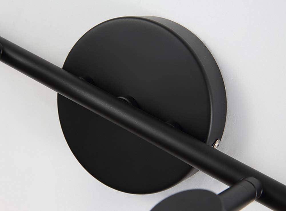 Modern LED Spiegelleuchte Schwarz Badleuchte Wandlampe Badezimmer Lampe Aufbauleuchte Spiegellampe Tageslicht ideal für Make up, IP44 Wasserdicht, Warmweiss,3 köpfe 4 Köpfe