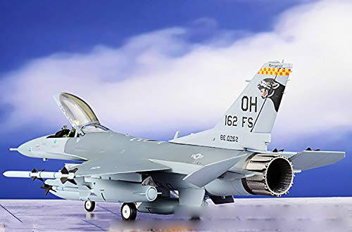 JC Wings USAF ANG F-16C Fighting Falcon 162nd Fighter Squadron 1/72 diecast Plane Model Aircraft