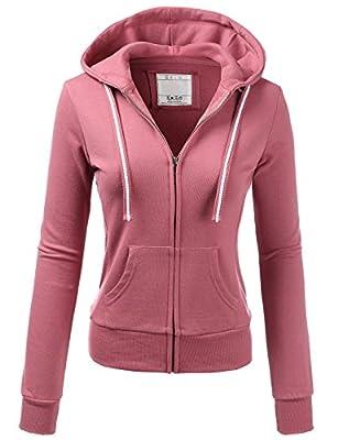 H2H Womens Slim Fit Front Zip up Hoodie Jacket